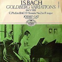 J. B. Bach*, C. Ph. Em. Bach*, József Gát ‎– Goldberg Variations, Bwv.988 / Sonata No. 2 In F Major